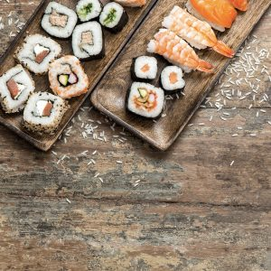 Sushi making Japan
