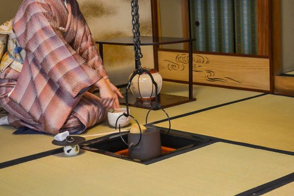 Japanese Tea Ceremony served tatami