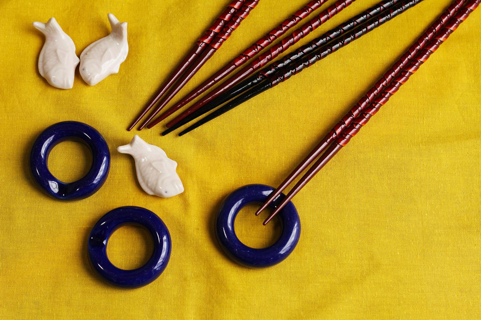 pottery chopsticks inside out japan