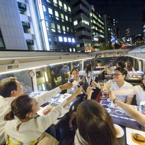 tokyo bus restaurant dinner time